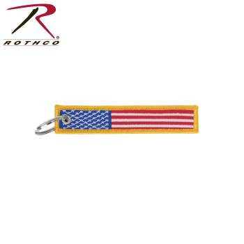 US Flag Patch Keychain
