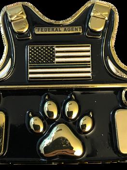 K-9 FEDERAL AGENT VEST COIN
