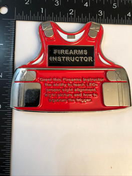 FIREARMS INSTRUCTOR VEST COIN