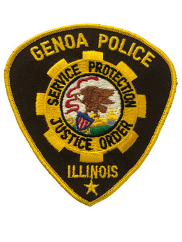 GENOA POLICE IL PATCH