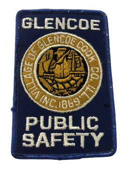 GLENCOE POLICE PUBLIC SAFETY IL PATCH FREE SHIPPING