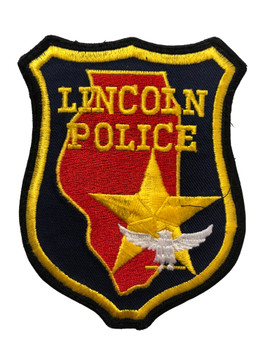 LINCOLN  POLICE  IL PATCH FREE SHIPPING