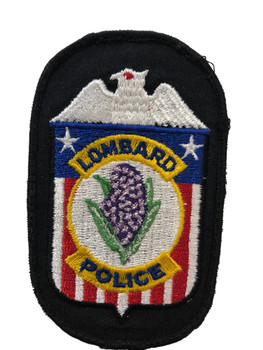 LOMBARD POLICE  IL PATCH FREE SHIPPING
