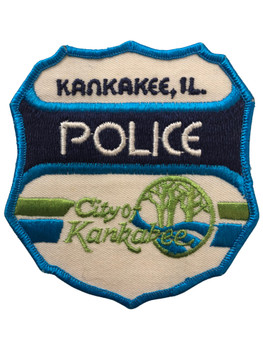 KANKAKEE   POLICE  IL PATCH BLUE FREE SHIPPING