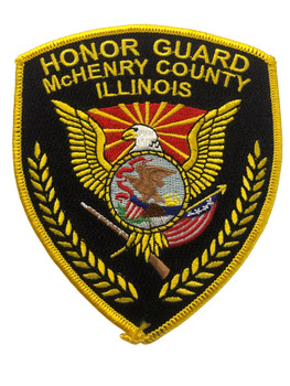 McHENRY POLICE  CTY PATCH HONOR GUARD FREE SHIPPING
