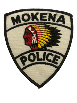 MOKENA POLICE  CTY PATCH HONOR GUARD FREE SHIPPING