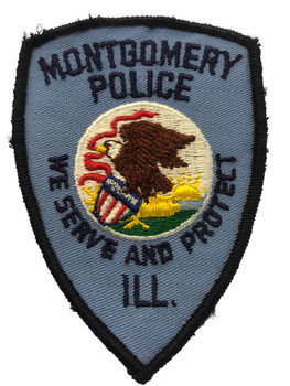 MONTGOMERY  POLICE PATCH SHIPPING