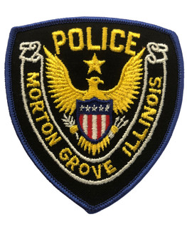 MORTON GROVE IL  POLICE PATCH #1 FREE SHIPPING