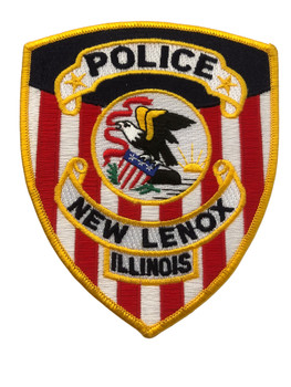 NEW LENOX IL  POLICE PATCH FREE SHIPPING