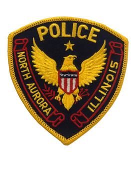 NORTH AURORA IL POLICE PATCH FREE SHIPPING