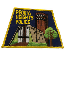 PEORIA HEIGHTS IL POLICE PATCH FREE SHIPPING