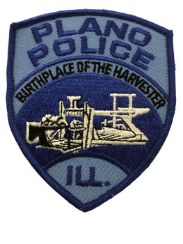 PLANO  IL POLICE PATCH FREE SHIPPING