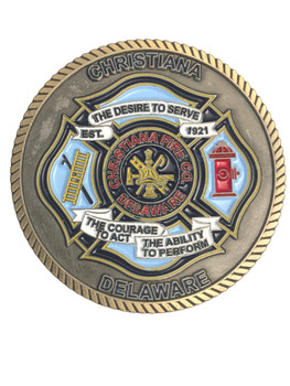 CHRISTIANA FIRE DEPT DE CHALLENGE COIN