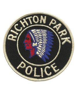 RICHTON PARK  IL POLICE PATCH FREE SHIPPING