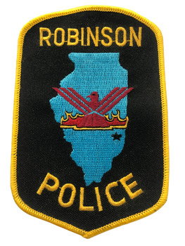 ROBINSON IL POLICE PATCH FREE SHIPPING