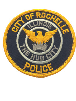 ROCHELLE IL POLICE PATCH FREE SHIPPING