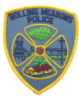 ROLLING MEADOWS  IL POLICE PATCH FREE SHIPPING