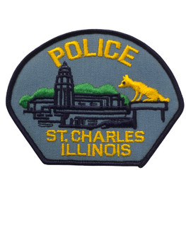 ST. CHARLES  IL POLICE PATCH FREE SHIPPING