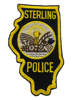 STERLING   IL POLICE PATCH FREE SHIPPING