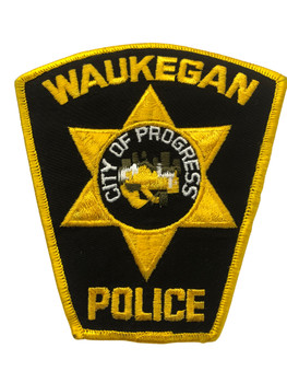 WAUKEGAN IL POLICE PATCH FREE SHIPPING