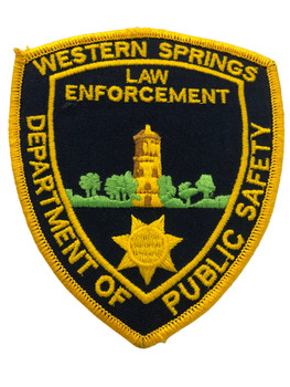 WESTERN SPRINGS  IL POLICE PATCH FREE SHIPPING