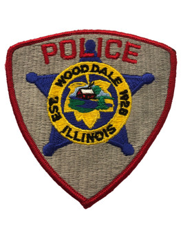 WOODDALE  IL POLICE PATCH FREE SHIPPING