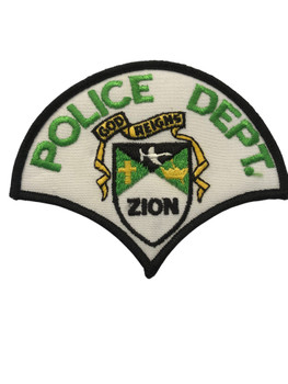 ZION IL POLICE PATCH FREE SHIPPING