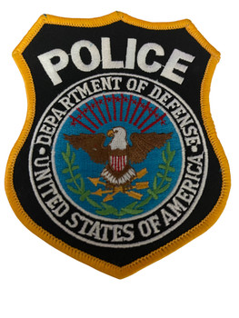 DEPT.OF DEFENSE POLICE PATCH #1 RARE LAST ONE