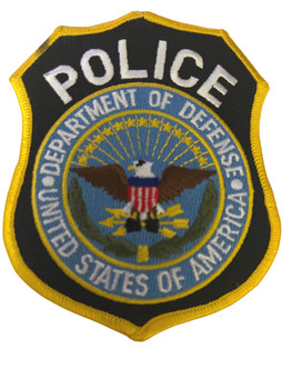 DEPT.OF DEFENSE POLICE PATCH #2 RARE LAST ONE