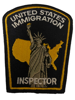 US IMMIGRATION INSPECTOR  POLICE PATCH RARE LAST ONE