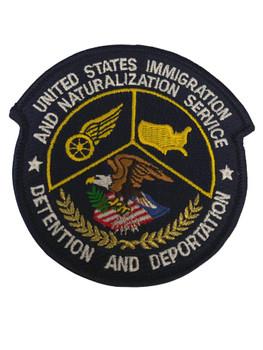 US IMMIGRATION DETENTION DEPORTATION POLICE PATCH