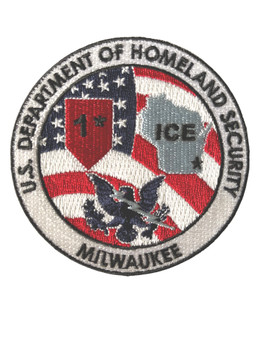 HOMELAND SECURITY ICE MILWAUKEE POLICE PATCH