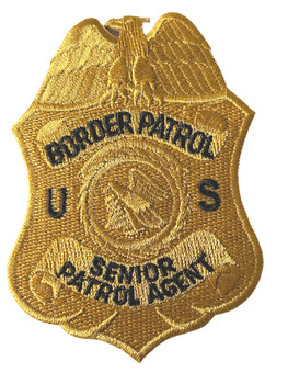 US BORDER PATROL SENIOR AGENT POLICE BADGE PATCH