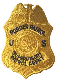US BORDER PATROL SUPERVISORY PATROL AGENT POLICE BADGE PATCH