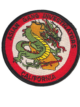 ASIAN GANG  CA PATCH #1 FREE SHIPPING!