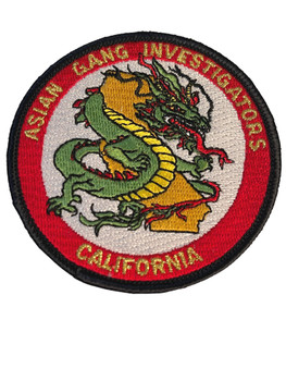 ASIAN GANG  CA PATCH #2 FREE SHIPPING!
