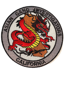 ASIAN GANG  CA PATCH #3 FREE SHIPPING!