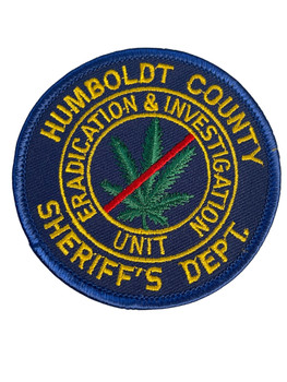 HUMBOLDT COUNTY SHERIFF DOPE UNIT CA PATCH FREE SHIPPING!