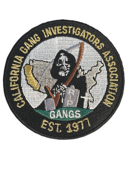 CALIFORNIA GANG INVESTIGATORS CA #2 PATCH FREE SHIPPING!