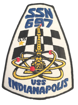 U.S. NAVY NUCLEAR SUB INDIANAPOLIS SSN 697 PATCH