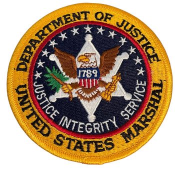 US MARSHAL OLD SCHOOL INFO PATCH RARE