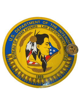 U.S. Dept. of the Interior Bureau of Indian Affairs Decal & Pin
