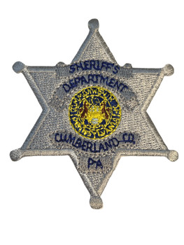 CUMBERLAND COUNTY PA  PATCH SMALL SILVER FREE SHIPPING!