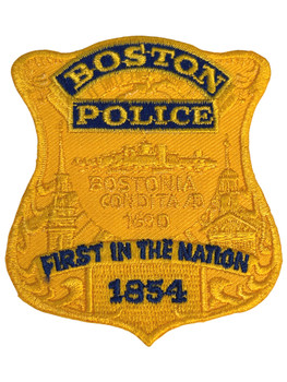 BOSTON POLICE MA BADGE  PATCH FREE SHIP!