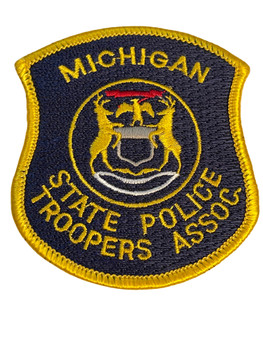 MICHIGAN STATE POLICE TROOPERS ASSN. PATCH FREE SHIP