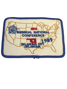 NATIONAL FOP CONFERENCE 1989 OK CITY PATCH FREE SHIP