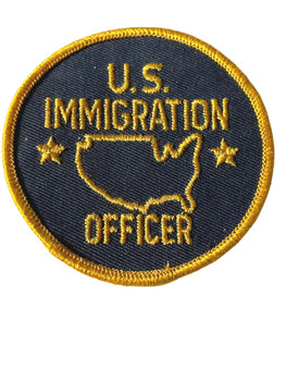US IMMIGRATION OFFICER RARE PATCH FREE SHIPPING!