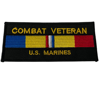 COMBAT VETERAN U.S. MARINES PATCH FREE SHIPPING!