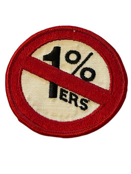 ONE PERCENT  1%ers  PATCH FREE SHIPPING!