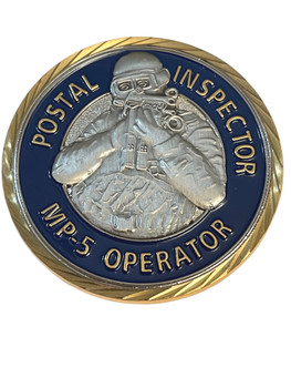 US POSTAL INSPECTOR MP-5 OPERATOR POLICE FL COIN RARE